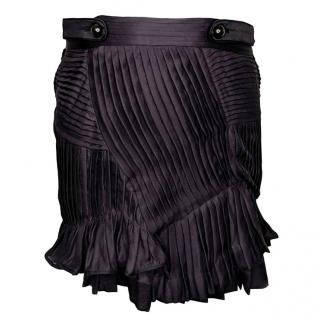 Isabel Marant Silk Pleated Mini Skirt