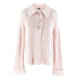 Joseph Baby Pink Knit Cardigan