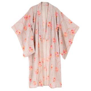 Bespoke Green & Pink Floral Kimono