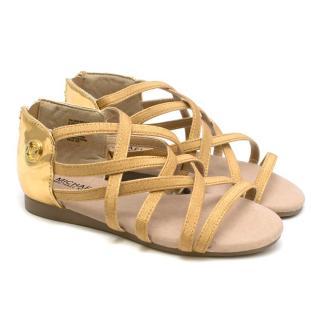 Michael Kors Girls Zia-Demi Brea Gold Sandals