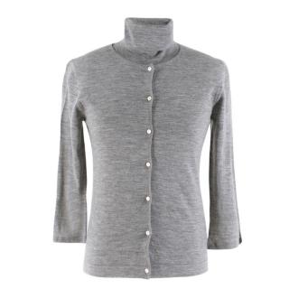 House of Cashmere Grey Cashmere Cardigan & Top