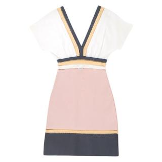 M Missoni Colourblock Cut-out Dress