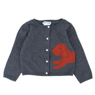 Jacadi Baby Girls 12M Dark Grey Wool blend Cardigan