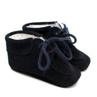 Tartine et Chocolat Baby First Steps Light Navy Nubuck Shoes