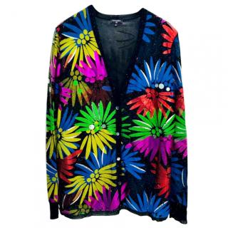 Chanel Coco Cuba Floral Multi-Colored Cardigan