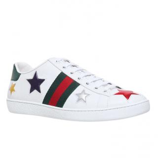 Gucci New Ace Star Detail Trainers