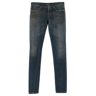 Saint Laurent Sand Wash Skinny Jeans