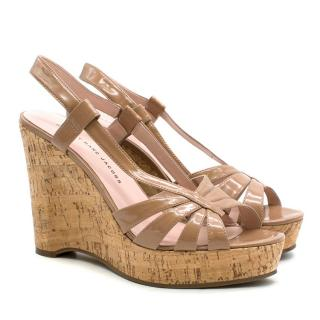 Marc by Marc Jacobs Nude Cork Wedges