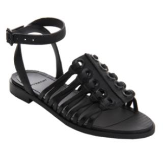 Givenchy Black Embossed Rubber Grommet Sandal