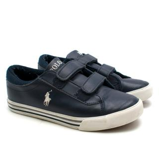 Polo Ralph Boy Lauren Navy Leather EZ Sneakers