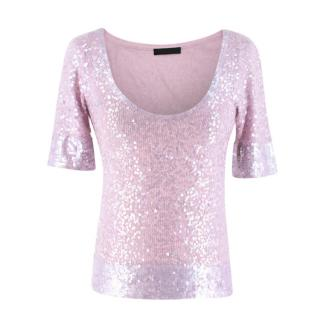 Donna Karan Cashmere blend Sequin Top