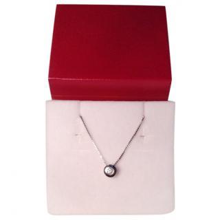 Bespoke 18k White Gold Diamond Solitaire Necklace