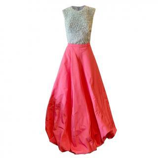 Pamella Roland two piece gown
