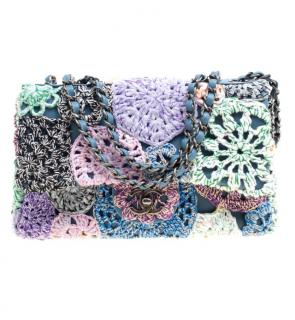 Chanel Multi-Colour Crochet Flap Bag