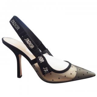 13cdaa55a Dior J'adior Plumetis Strass Slingback Sandals