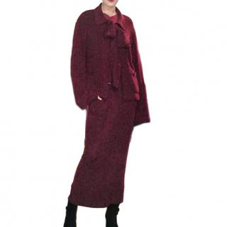 Chanel Vintage Burgundy Bell-Sleeve Suit