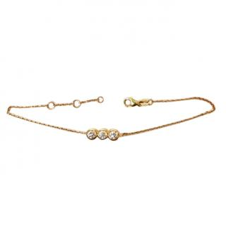 Cara 0.48ct Triple Diamond Set 18ct Gold Bracelet