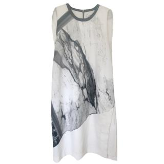 Helmut Lang Marble Print Dress