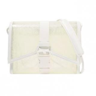 Christopher Kane leather-trimmed PVC messenger bag