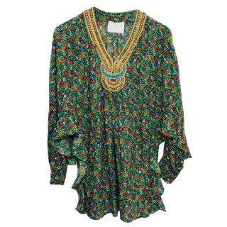 3.1 Phillip Lim Floral Print Silk Tunic