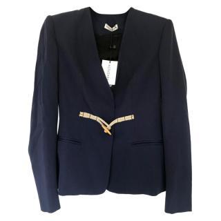 Altuzarra duffle button navy blazer