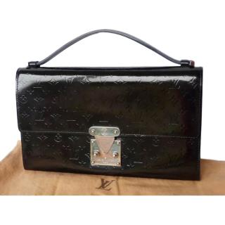 Louis Vuitton Black Monogram Vernis Mini Top Handle Bag