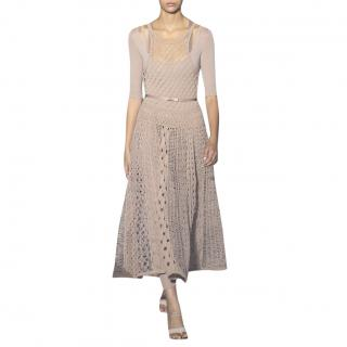 Dior SS19 Nude Woven Mesh Runway Gown - Rare & Collectible