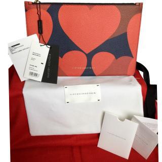 Victoria Beckham Heart Print Pouch