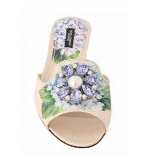 Dolce & Gabbana Tairmina Crystal Embellished Slides