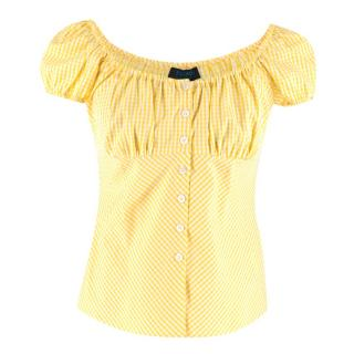 Escada Sport Yellow Gingham Blouse