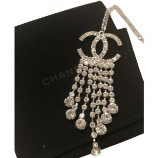 Chanel CC crystal droplet necklace