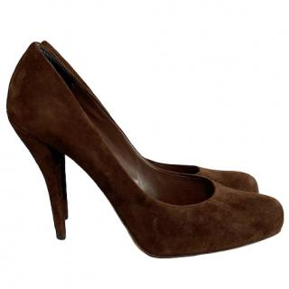 Dior Brown Suede Pumps