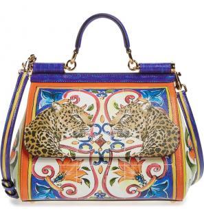 Dolce & Gabbana Leopards Sicily Print Miss Sicily Bag