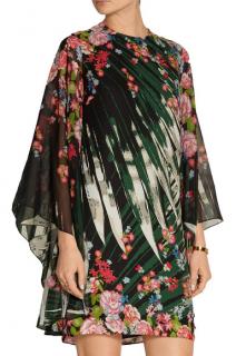 Elie Saab Pink Printed Silk-Georgette Mini Dress