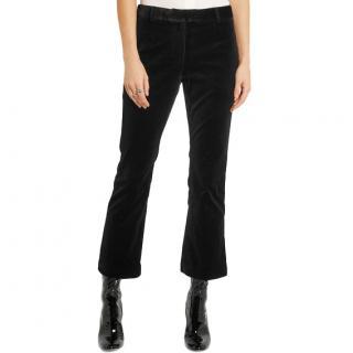 Frame Black Velvet Cropped Pants