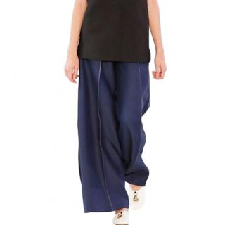 Celine by Phoebe Philo Navy Wool Culottes