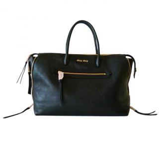 Miu Miu Madras Black Travel Bag