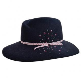 Maison Michel Virginie Strass Felt Hat