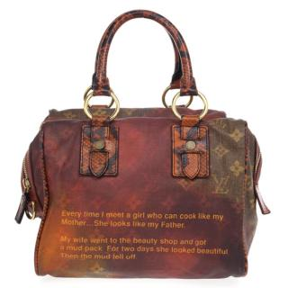 Louis Vuitton Ltd Edition Richard Prince Monogram Mancrazy Jokes Bag