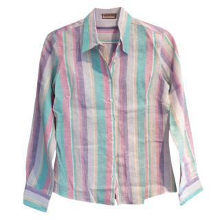 Thomas Pink Linen Blouse