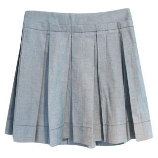 Seey By Chloe blue pleated mini skirt