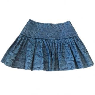 Isabel Marant Etoile blue brocade print mini skirt