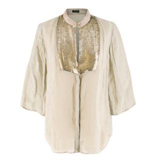 Joseph Sequin Embellished Linen Tunic
