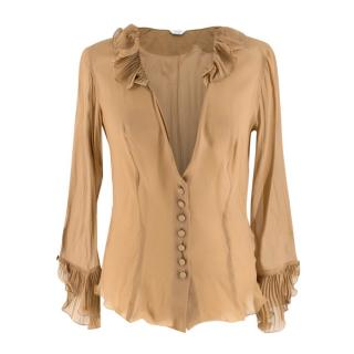 Paul Smith Sheer Brown Blouse