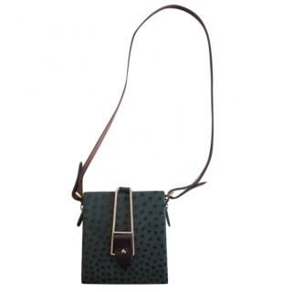 Pauric Sweeney Ostrich Leather Mini Shoulder Bag