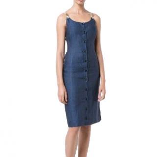 Altuzarra linen navy isar dress