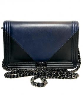 Chanel Two-Tone Boy Wallet On Chain