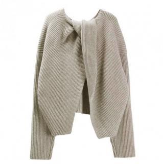 Celine open back crewneck sweater.