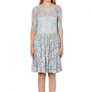 Ganni Pearl Blue Ayame Lace Dress