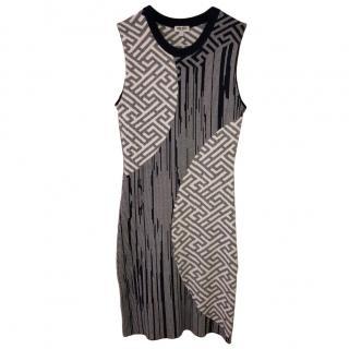 Kenzo Stretch Knit Multi-Print Sheath Dress